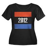 2012 Election RWB Women's Plus Size Scoop Neck Dar
