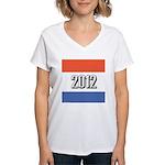 2012 Election RWB Women's V-Neck T-Shirt