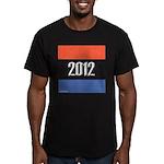 2012 Election RWB Men's Fitted T-Shirt (dark)