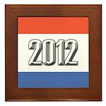 2012 Election RWB Framed Tile