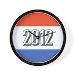 2012 Election RWB Wall Clock