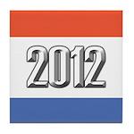 2012 Election RWB Tile Coaster