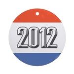 2012 Election RWB Ornament (Round)