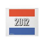 2012 Election RWB Throw Blanket