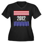 Presidential 2012 stars Women's Plus Size V-Neck D