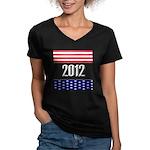Presidential 2012 stars Women's V-Neck Dark T-Shir