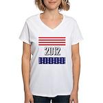 Presidential 2012 stars Women's V-Neck T-Shirt