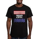 Presidential 2012 stars Men's Fitted T-Shirt (dark