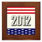 Presidential 2012 stars Framed Tile