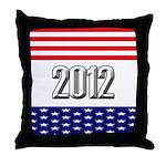Presidential 2012 stars Throw Pillow