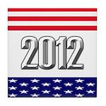 Presidential 2012 stars Tile Coaster