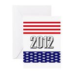 Presidential 2012 stars Greeting Card