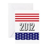 Presidential 2012 stars Greeting Cards (Pk of 10)
