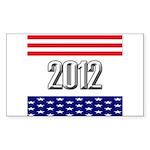 Presidential 2012 stars Sticker (Rectangle 50 pk)