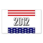 Presidential 2012 stars Sticker (Rectangle 10 pk)