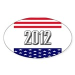 Presidential 2012 stars Sticker (Oval 50 pk)
