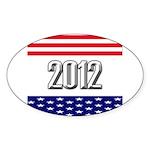 Presidential 2012 stars Sticker (Oval 10 pk)