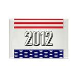 Presidential 2012 stars Rectangle Magnet
