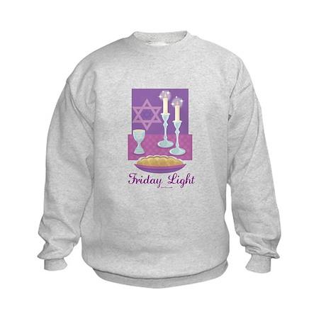 Friday Light Jewish Kids Sweatshirt