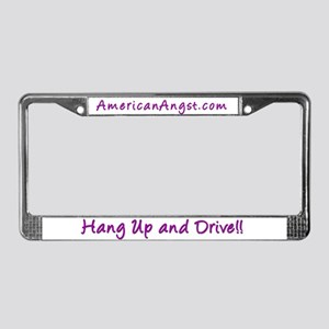 Hang Up And Drive License Plate Frame