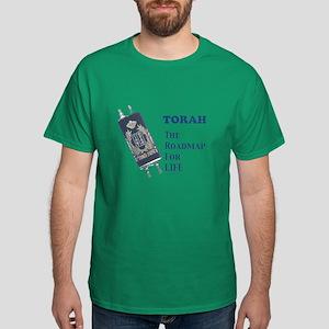 Torah Roadmap Jewish Dark T-Shirt