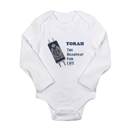 Torah Roadmap Jewish Long Sleeve Infant Bodysuit
