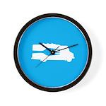Food Truck: Side/Fork (Blue) Wall Clock