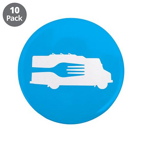 "Food Truck: Side/Fork (Blue) 3.5"" Button (10 pack)"