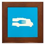 Food Truck: Side/Fork (Blue) Framed Tile