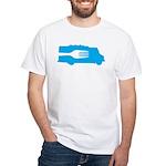 Food Truck: Side/Fork (Blue) White T-Shirt