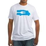 Food Truck: Side/Fork (Blue) Fitted T-Shirt