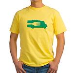 Food Truck: Side/Fork (Blue) Yellow T-Shirt