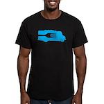 Food Truck: Side/Fork (Blue) Men's Fitted T-Shirt