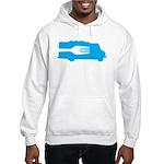 Food Truck: Side/Fork (Blue) Hooded Sweatshirt