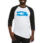 Food Truck: Side/Fork (Blue) Baseball Jersey