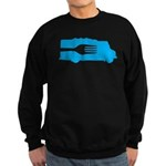 Food Truck: Side/Fork (Blue) Sweatshirt (dark)
