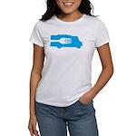 Food Truck: Side/Fork (Blue) Women's T-Shirt