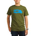 Food Truck: Side/Fork (Blue) Organic Men's T-Shirt