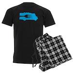 Food Truck: Side/Fork (Blue) Men's Dark Pajamas
