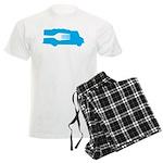 Food Truck: Side/Fork (Blue) Men's Light Pajamas