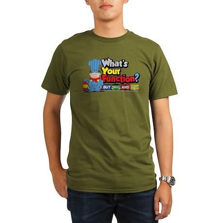 What's Your Function? Organic Men's T-Shirt (dark)