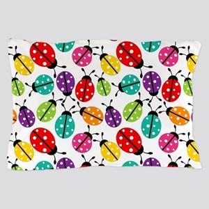 Lots of Crayon Colored Ladybugs Pillow Case