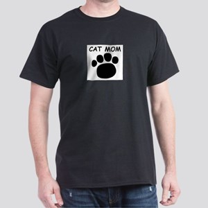 Cat Mom  Black T-Shirt
