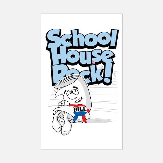 Schoolhouse Rock Bill Sticker (Rectangle)