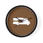 Food Truck: Side/Fork (Brown) Wall Clock