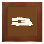 Food Truck: Side/Fork (Brown) Framed Tile