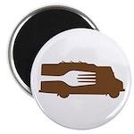 Food Truck: Side/Fork (Brown) Magnet