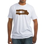 Food Truck: Side/Fork (Brown) Fitted T-Shirt
