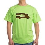 Food Truck: Side/Fork (Brown) Green T-Shirt