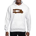 Food Truck: Side/Fork (Brown) Hooded Sweatshirt